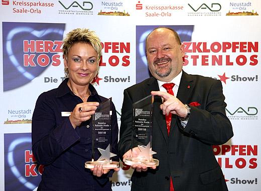 Iris Lukes und Helmut Schmidt